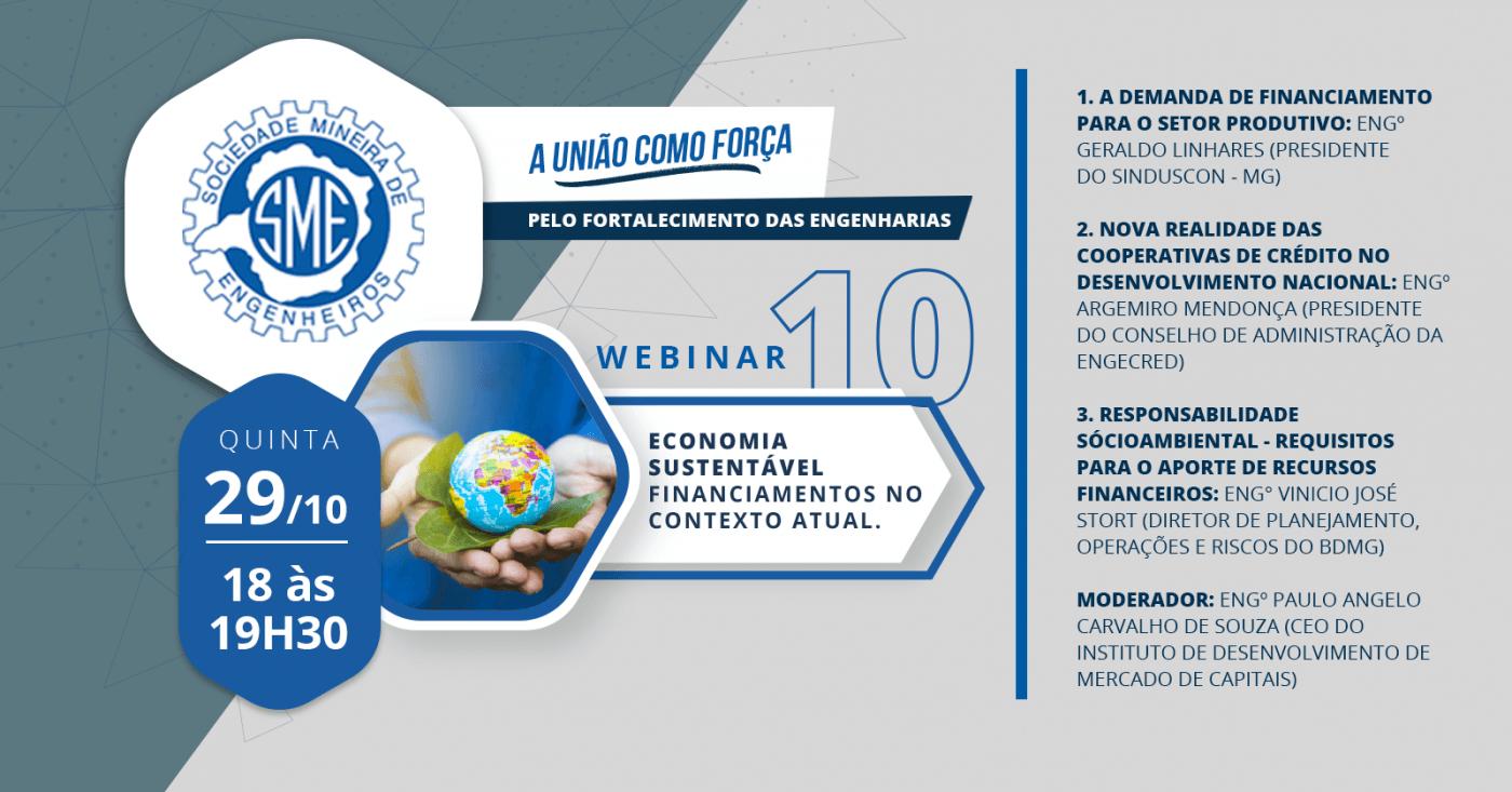 Webinar 10: Economia Sustentável - Financiamentos no contexto atual