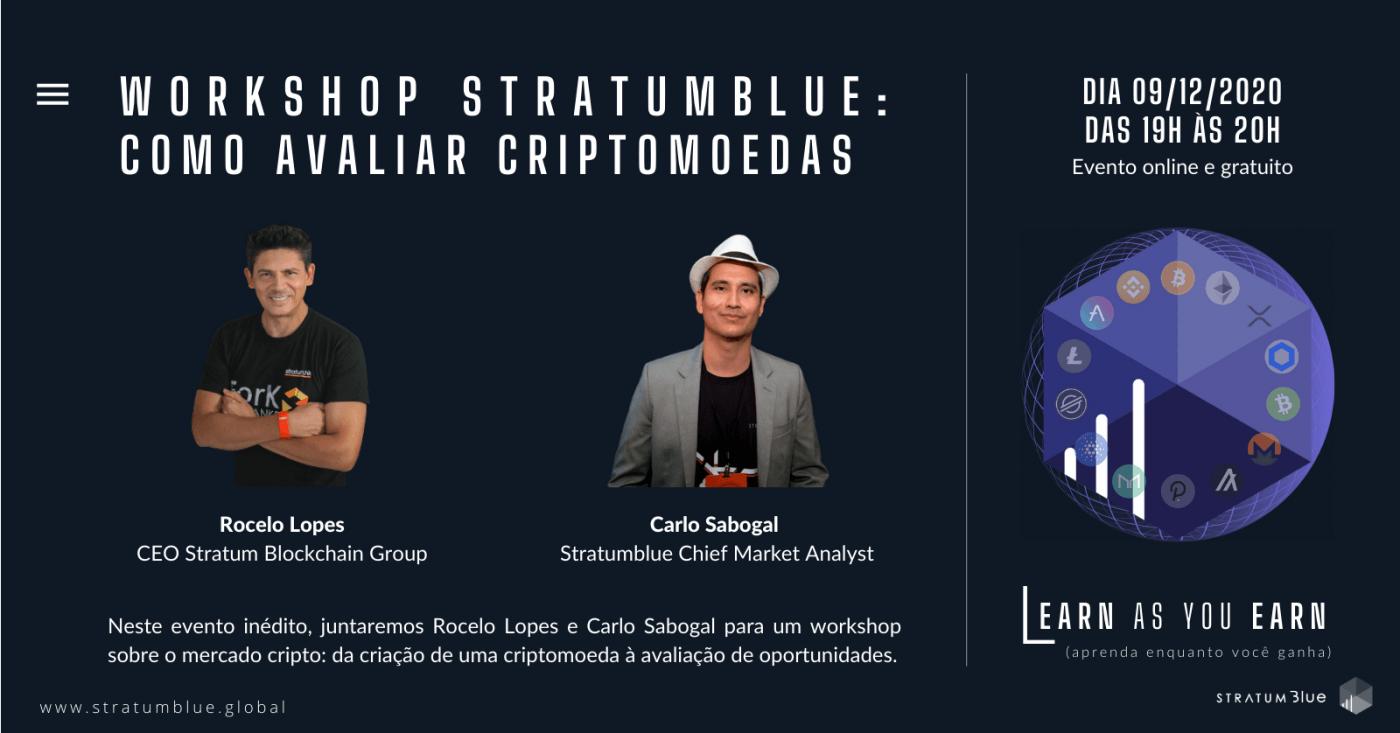 Workshop StratumBlue:  Como avaliar criptomoedas